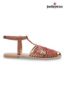Joe Browns Flat Strappy Closed Toe Leather Sandals