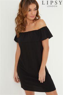 Lipsy Ruffle Bardot Shift Dress