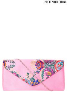 PrettyLittleThing Oriental Print Clutch Bag