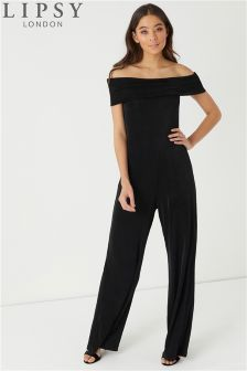 Lipsy Sheen Bardot Jumpsuit