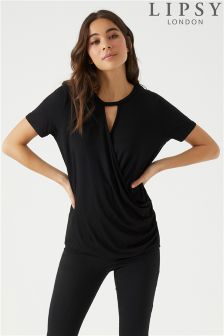 Lipsy Short Sleeve Wrap Top