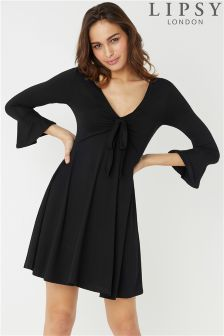 Lipsy Tie Front Skater Dress