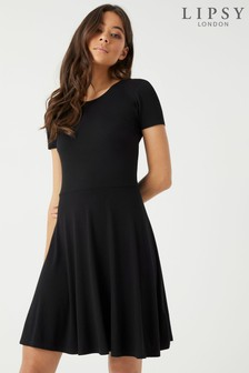 Lipsy Short Sleeve Skater Dress