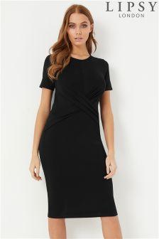 Lipsy Cross Over Short Sleeve Dress