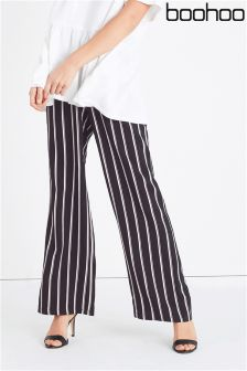 Boohoo Stripe Wide Leg Trousers