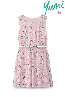 Yumi Girl Floral Printed Lace Dress