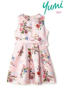 Yumi Girl Vintage Wallpaper Jacquard Dress