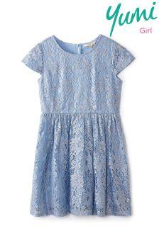 Yumi Girl Foiled Lace Dress