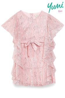 Yumi Girl Lace Frill Dress