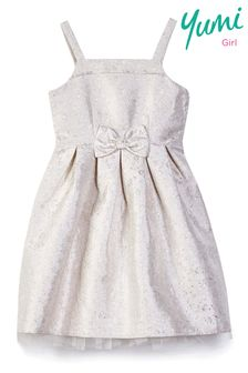 Yumi Girl Jacquard Bow Prom Dress
