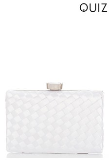 Quiz Woven Box Bag