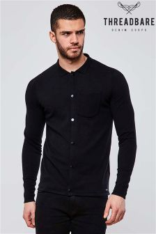 Threadbare Button Through Knitted Shirt