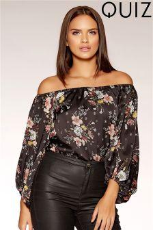 Quiz Satin Blossom Print Bodysuit
