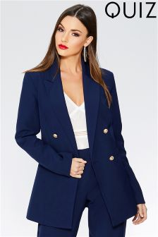 Quiz Double Breasted Suit Jacket
