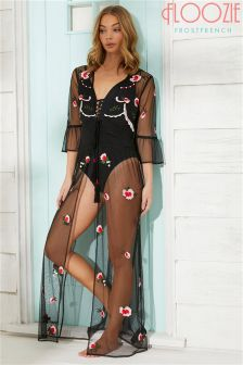 Floozie Trial Sheer Rose Kaftan