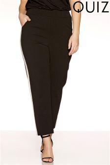 Quiz Curve Stripe Trousers