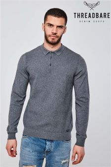 Threadbare Knitted Polo Shirt