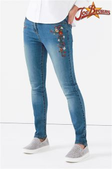 Joe Browns Womens Skinny Floral Embroidered Jeans