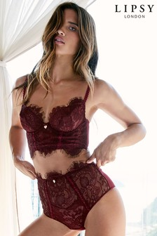 Lipsy Lonnie High Waist Lace Brief