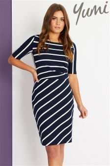 Yumi Ponte Stripe Dress