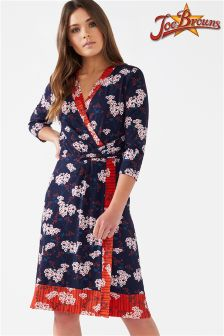 Joe Browns Long Sleeve Jersey Wrap Oriental Print Dress
