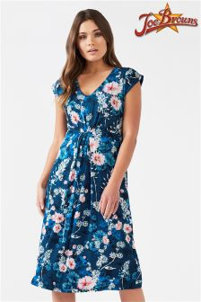 Joe Browns Cap Sleeve Floral Jersey Dress