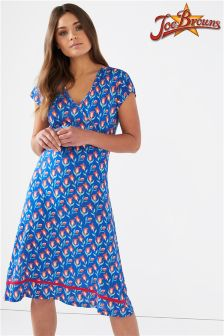 Joe Browns Cap Sleeve Jersey Wrap Dress In Floral Print