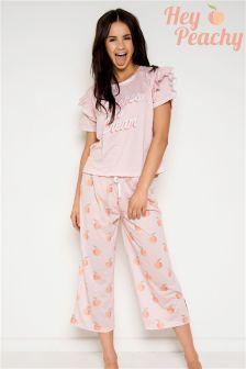 Hey Peachy Peaches & Cream Long Pyjama Set