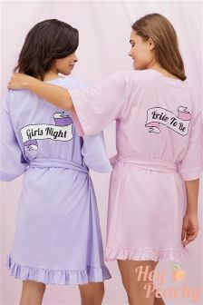 Hey Peachy Bride to be Robe