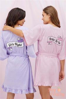 Hey Peachy Girls Night Robe