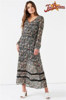 Joe Browns Womens Long Festival Maxi Dress In Sheer Fabric With Cami Inner