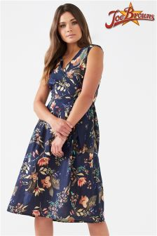 Joe Browns Cap Sleeve Wrap Dress In All Over Floral Print