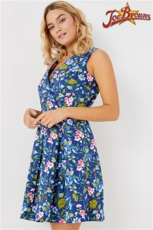 Joe Browns Womens Sleeveless Skater Dress In All Over Floral Print