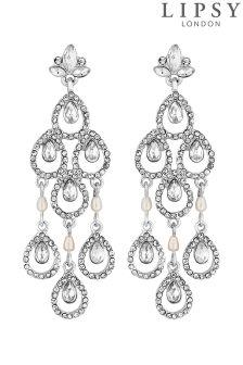Lipsy Bridal Statement Pear Chandalier Earrings