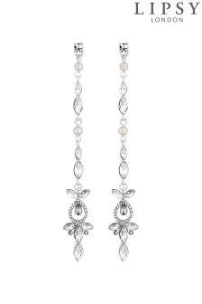 Lipsy Bridal Crystal And Pearl Drop Earrings