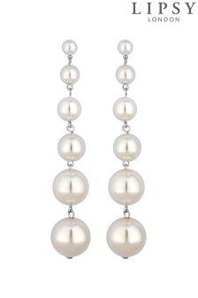 Lipsy Pearl Graduated Chandalier Earrings