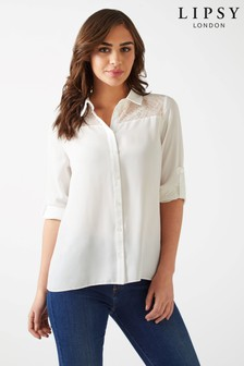 Lipsy Long Sleeve Lace Shirt