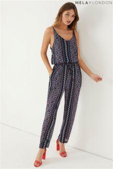 Mela London Drawstring Printed Jumpsuit
