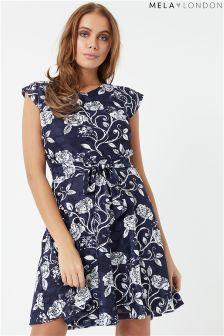 Mela London Printed Rose Stem Lace Dress