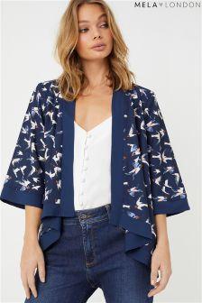 Mela London Bird Print Kimono