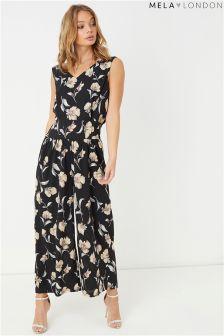 Mela London Floral Print Maxi Dress