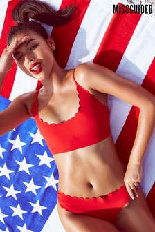 Missguided Scallop Bralet Bikini Set