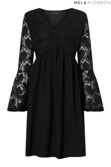 Mela London Curve Lace Skater Dress