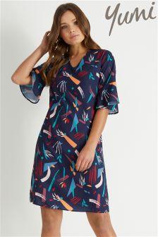 Yumi Abstract Print Tunic Dress