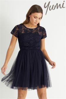 Yumi Lace And Mesh Prom Dress