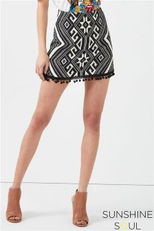 Sunshine Soul Tapestry Mini Skirt