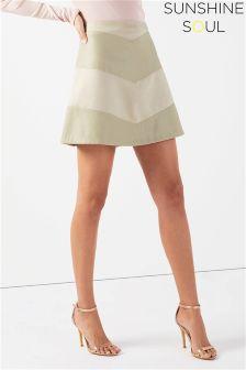 Sunshine Soul PU Mini Skirt