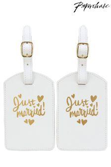 Paperchase Wedding Luggage Tag Set