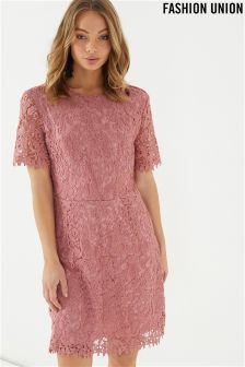 Fashion Union Scallop Lace Dress