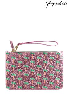 Paperchase Palm Tree Glitter Pouch